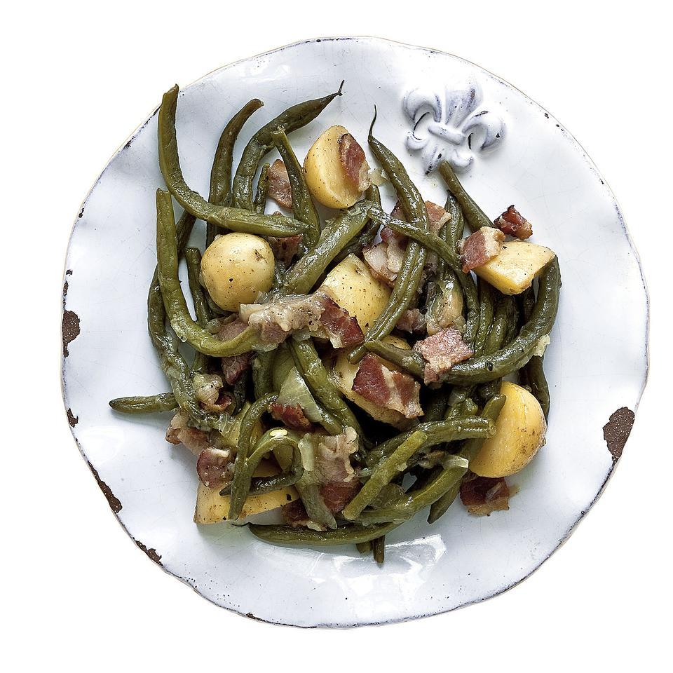 Smothered Green Beans with New Potatoes Alex Patout