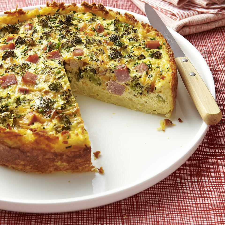 Broccoli, Ham & Cheese Quiche Carolyn Malcoun