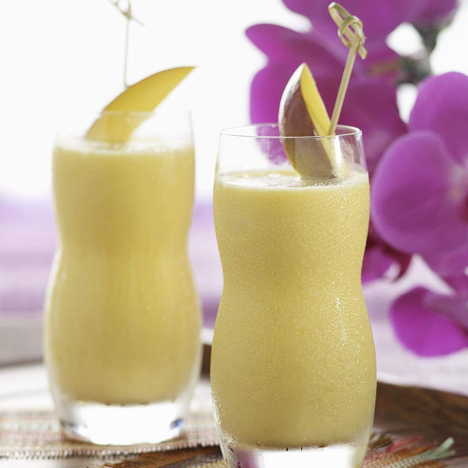 Though it tastes like those iconic vanilla-and-orange popsicles, this creamsicle breakfast smoothie recipe is a balanced breakfast with carbohydrates, protein and, thanks to the addition of coconut water, essential electrolytes. Coconut water serves up more than 10 percent of your daily dose of potassium--an electrolyte you lose through sweat--in every cup, making it a great hydrator for light workouts. Plus, this creamy orange-mango smoothie only contains about 30 mg of sodium per cup, whereas sports drinks usually deliver about 110 mg of sodium per cup.