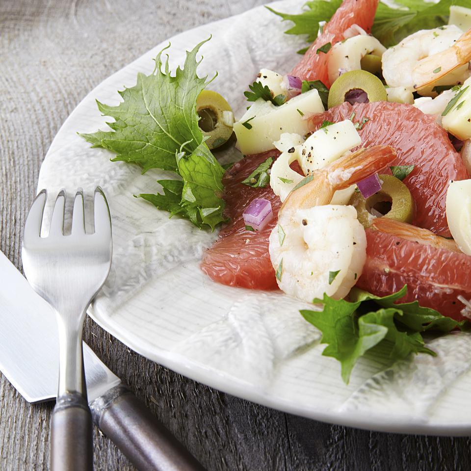 Grapefruit, Hearts of Palm & Shrimp Salad EatingWell Test Kitchen