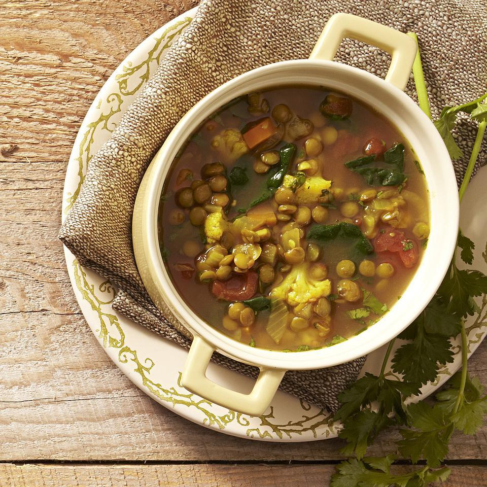 Like most soups, this healthy Moroccan lentil soup recipe gets better with time, so make it a day ahead if you can--or try our easy slow cooker/crock pot recipe variation. Source: EatingWell Magazine, January/February 2013