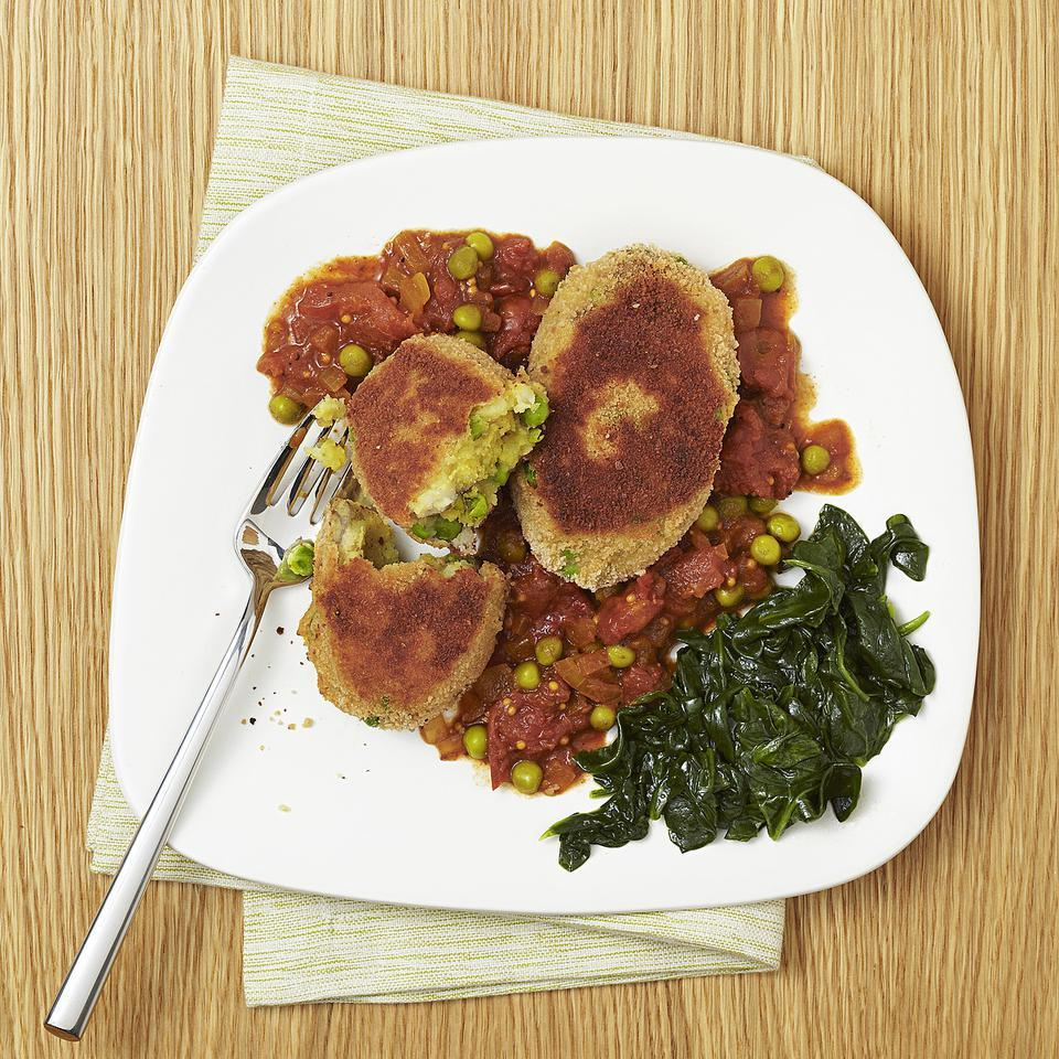 Curried Pea & Potato Croquettes EatingWell Test Kitchen