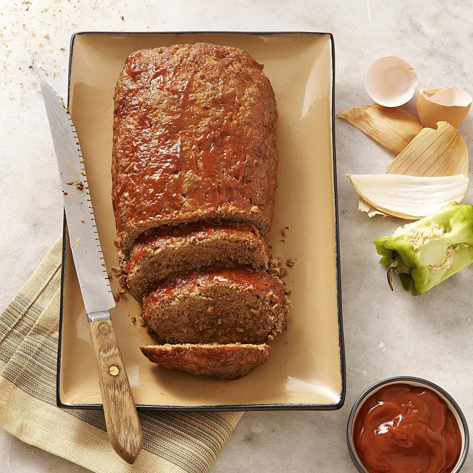 While meatloaf purists focus on the meat, we like to look at meatloaf as a way to pack extra veggies and whole grains into a meal, as we do in this healthy, classic meatloaf recipe. Source: EatingWell Magazine, January/February 2013