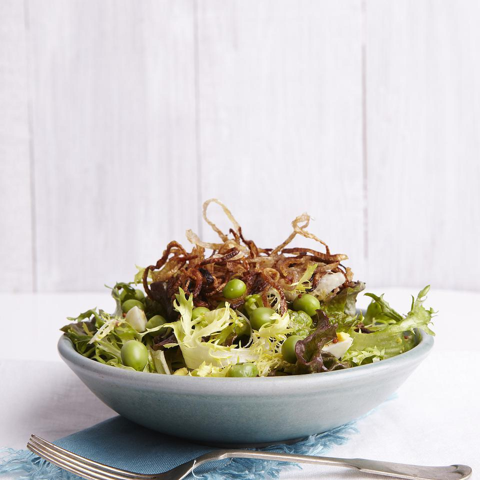 Spring Salad with Peas & Frizzled Shallots EatingWell Test Kitchen