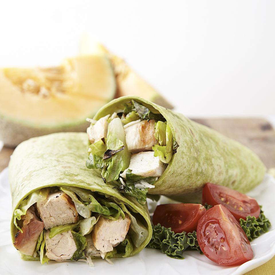 Grilled Chicken Caesar Salad Wrap EatingWell Test Kitchen