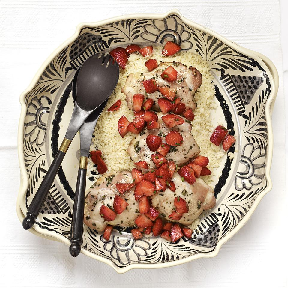 Herb-Crusted Chicken with Fresh Strawberry Relish EatingWell Test Kitchen