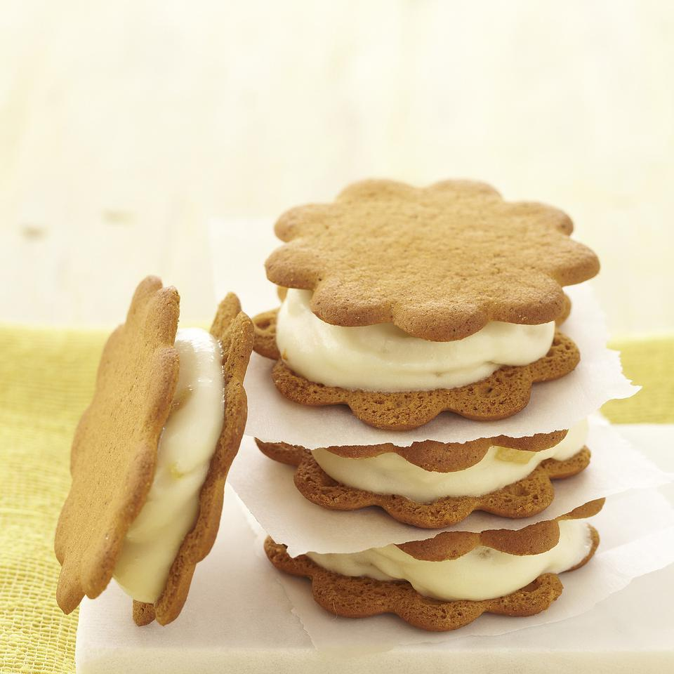 Double Ginger Frozen Yogurt Sandwiches EatingWell Test Kitchen