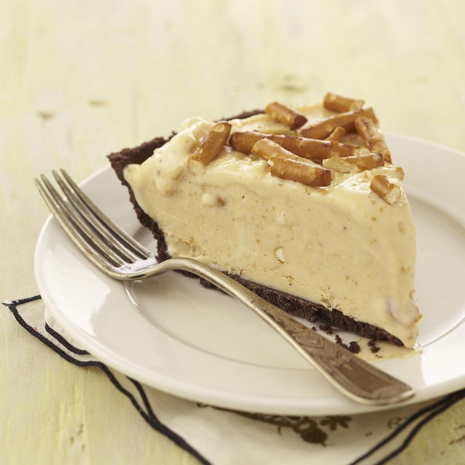 Frozen Peanut Butter-Pretzel Pie EatingWell Test Kitchen