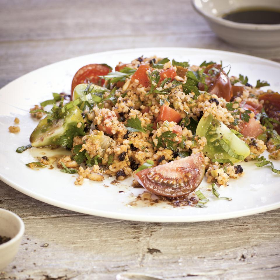 Bulgur Salad with Romesco Sauce Anna Thomas