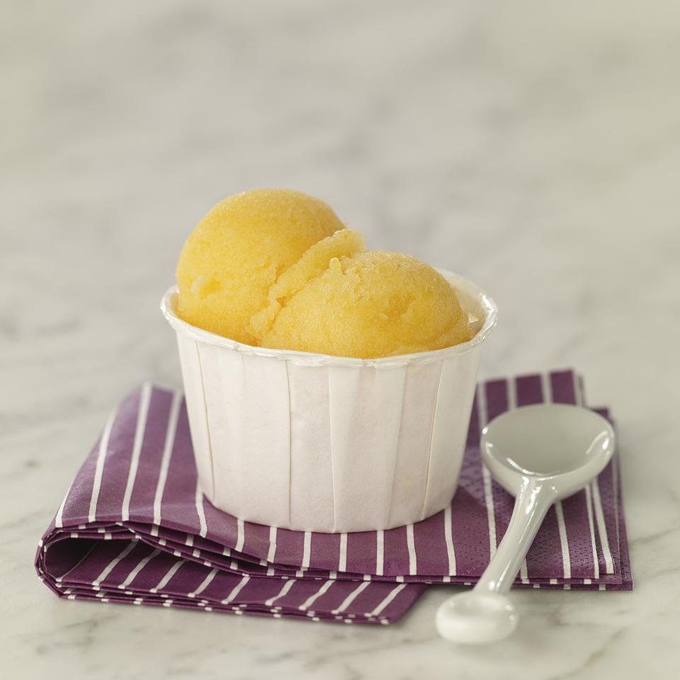 Champagne & Peach Sorbet EatingWell Test Kitchen