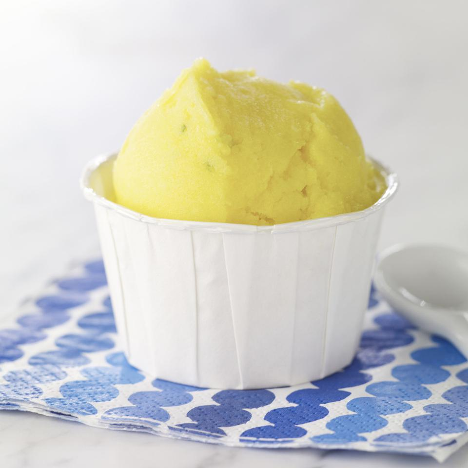 Lime-Mango Sorbet EatingWell Test Kitchen