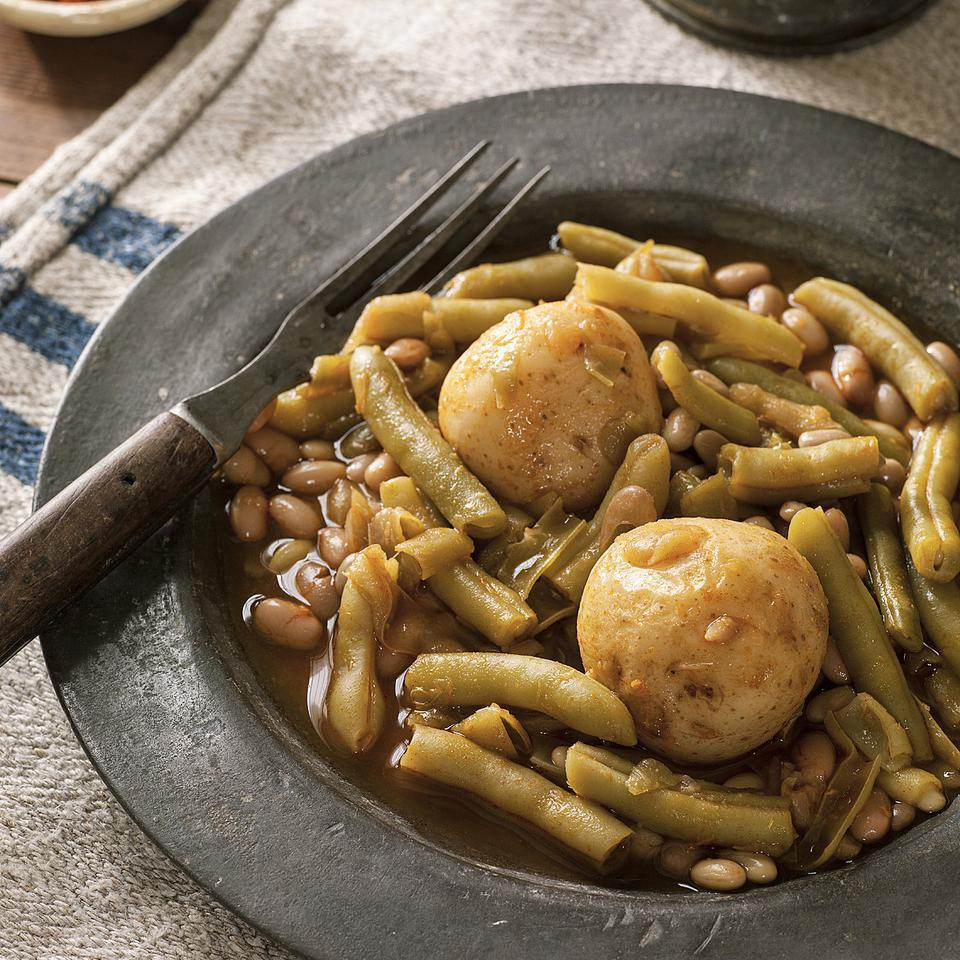 Meatless Mountain Green Beans with Potatoes Ronni Lundy