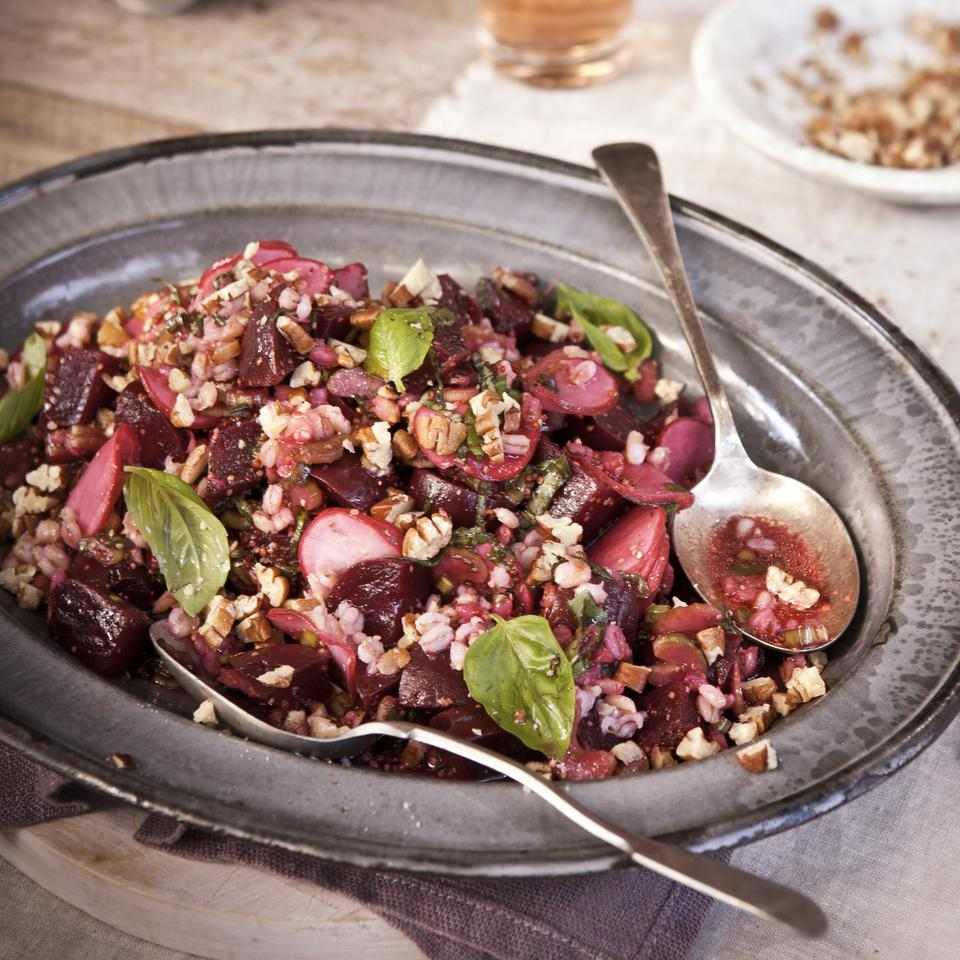 Roasted Beet & Barley Salad Anna Thomas