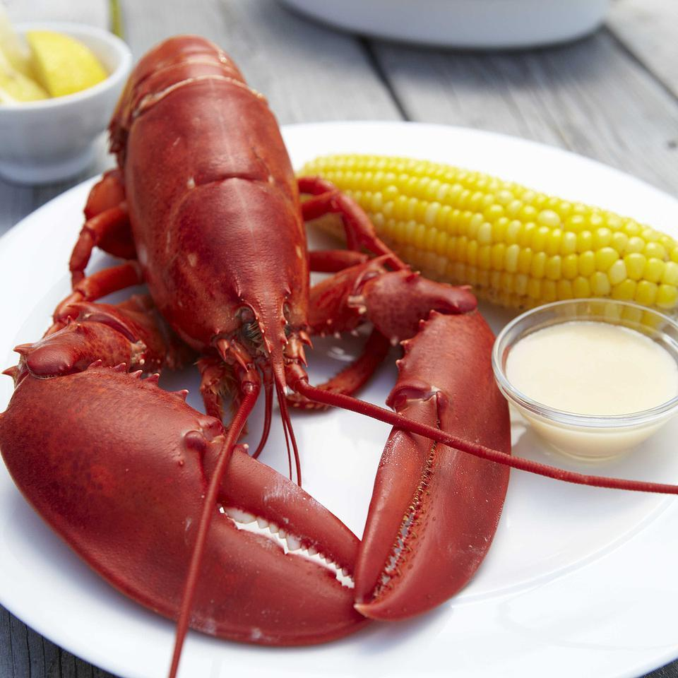 Boiled Lobsters with Dipping Sauce EatingWell Test Kitchen