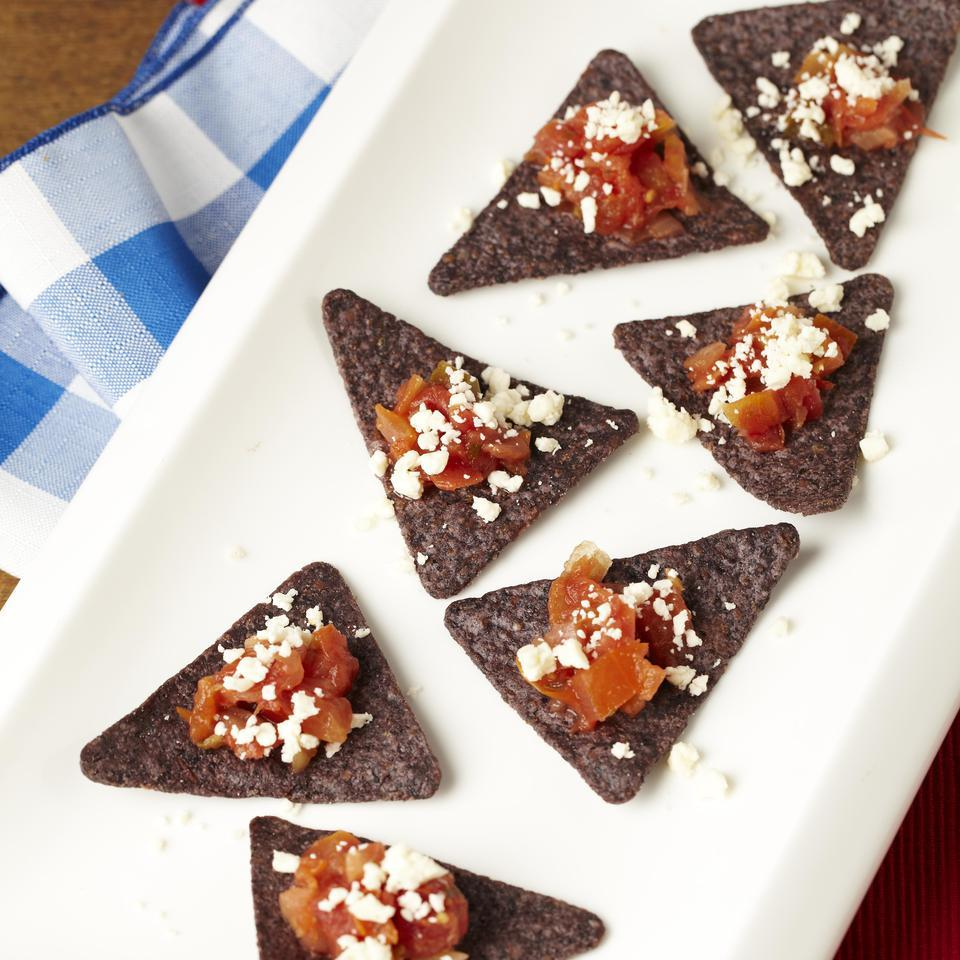 Red, White & Blue Corn Chip Bites EatingWell Test Kitchen