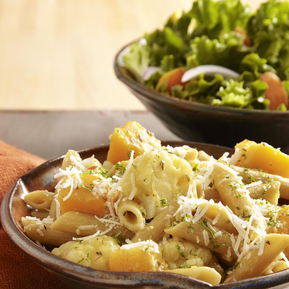 Braised Cauliflower & Squash Penne for Two EatingWell Test Kitchen