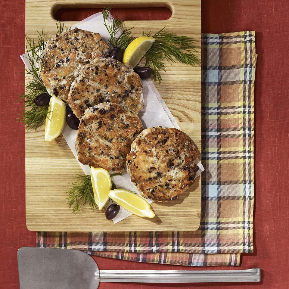 Salmon Cakes with Olives, Lemon & Dill Carolyn Malcoun