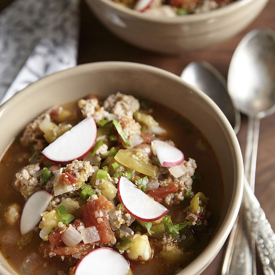 Tomatillo & Pork Chili EatingWell Test Kitchen