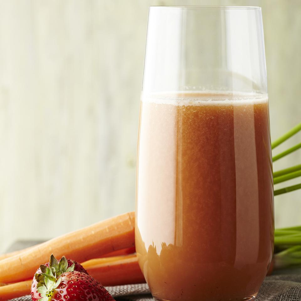 This refreshing, healthy strawberry-cucumber juice is also made with an apple and carrots, making it taste like the farmers' market in a glass. No juicer? No problem. See the juicing variation below to make this strawberry-cucumber juice recipe in a blender.