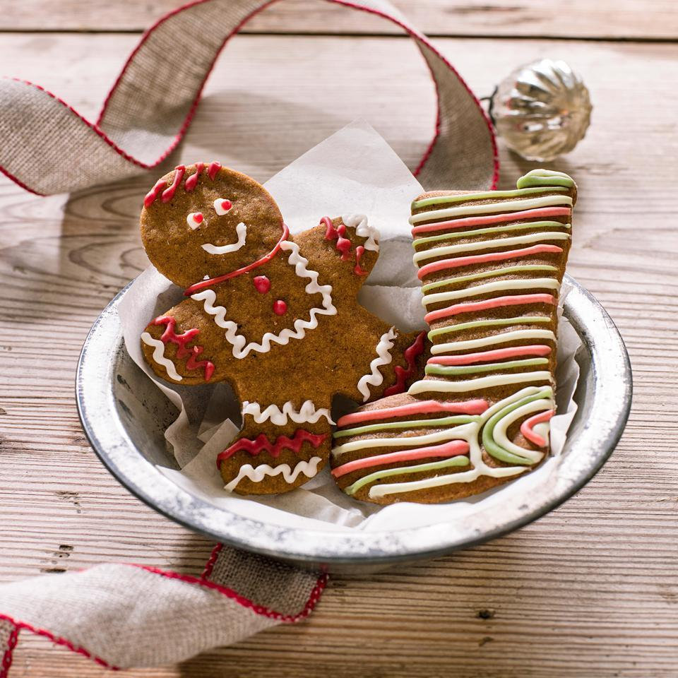 Iced Gingerbread Cut-Out Cookies EatingWell Test Kitchen