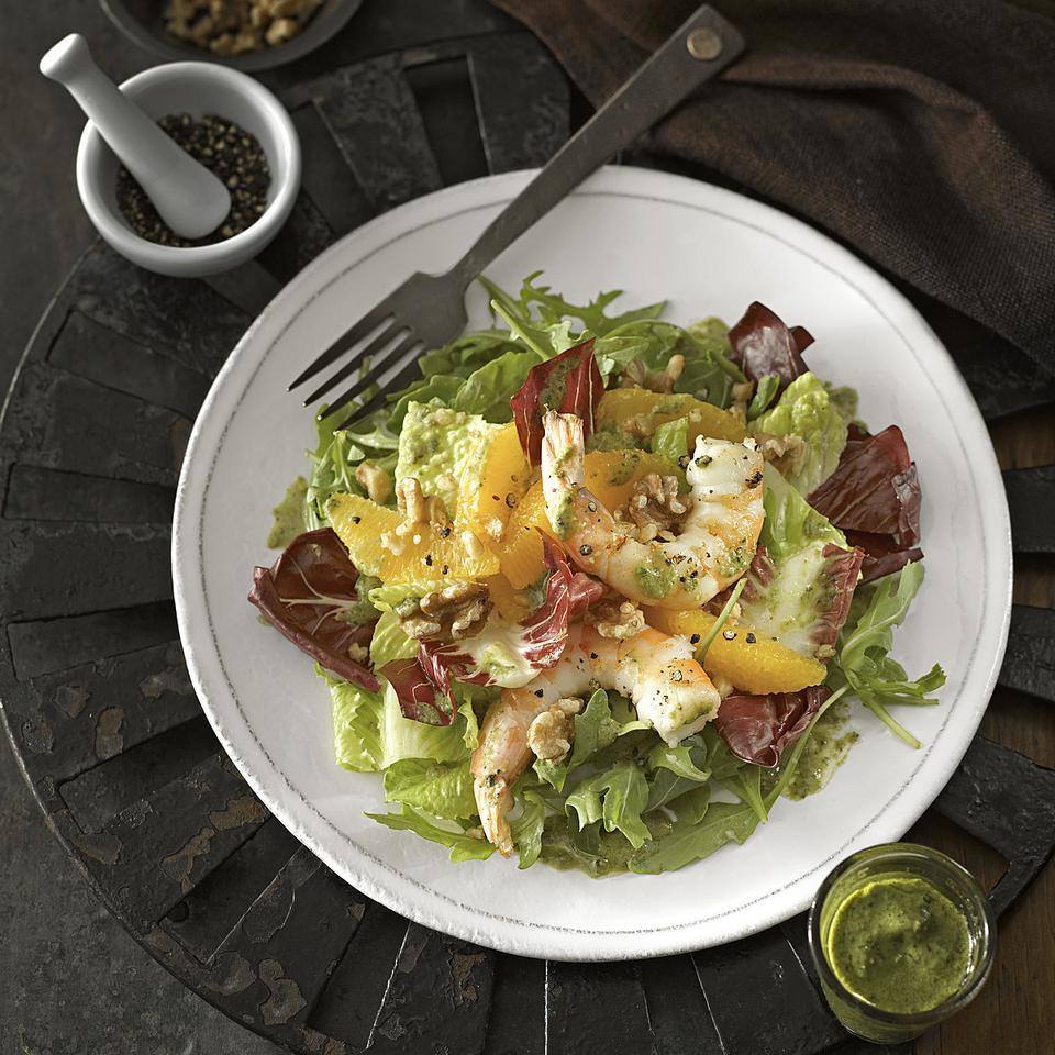 Orange & Black Pepper Shrimp Salad Katie Webster