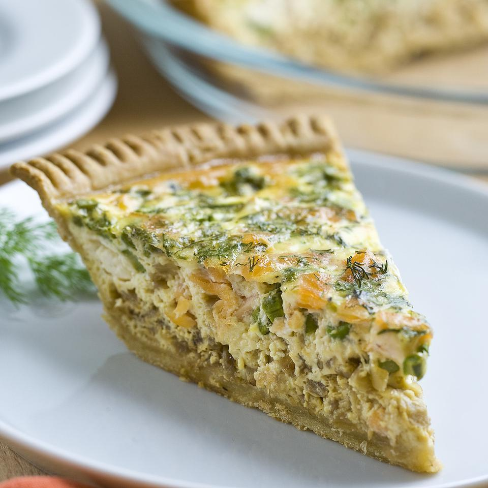 Asparagus & Smoked Salmon Quiche Stacy Fraser