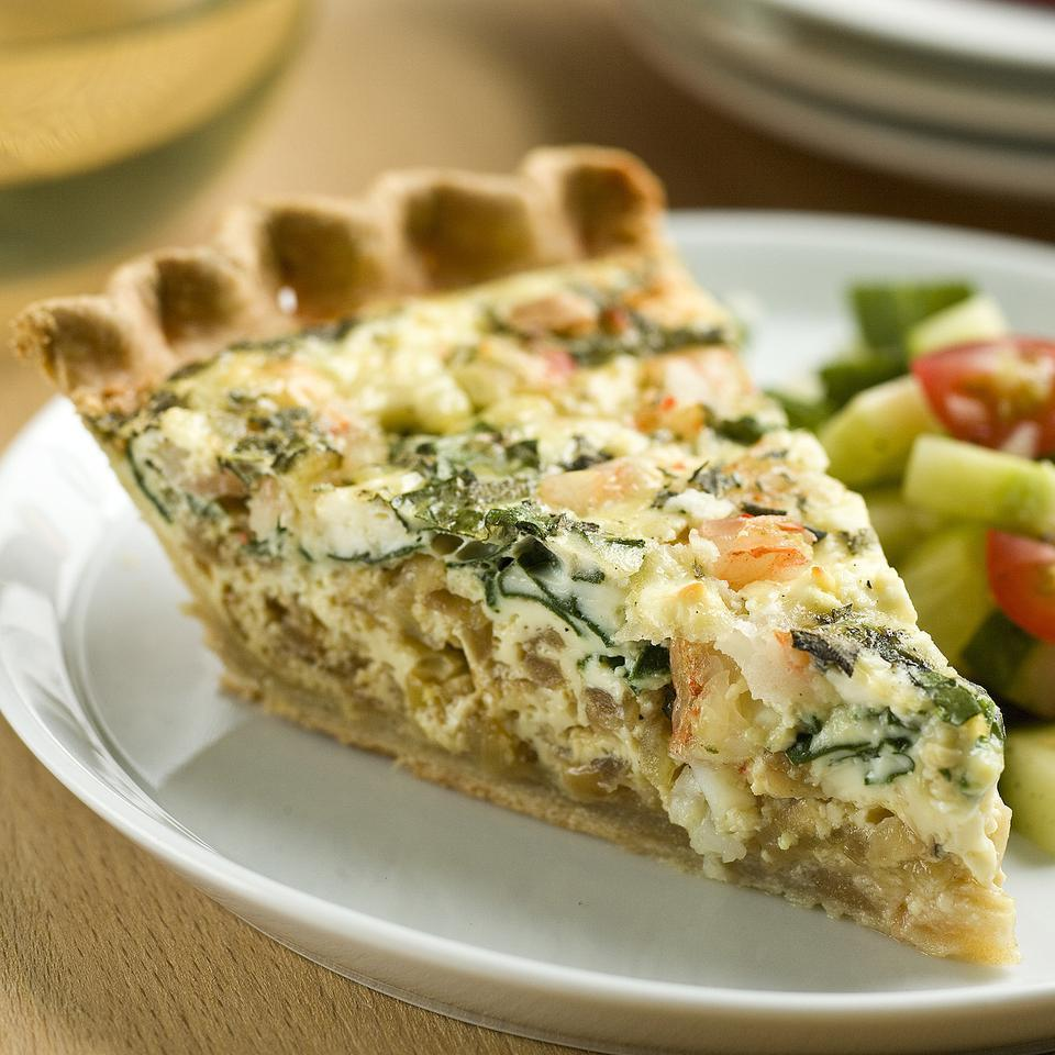 Shrimp & Spinach Quiche Stacy Fraser