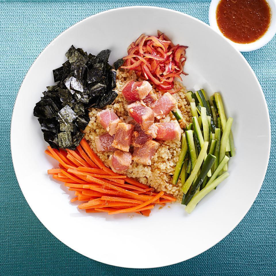 Seared Tuna Tataki Quinoa Bowl EatingWell Test Kitchen