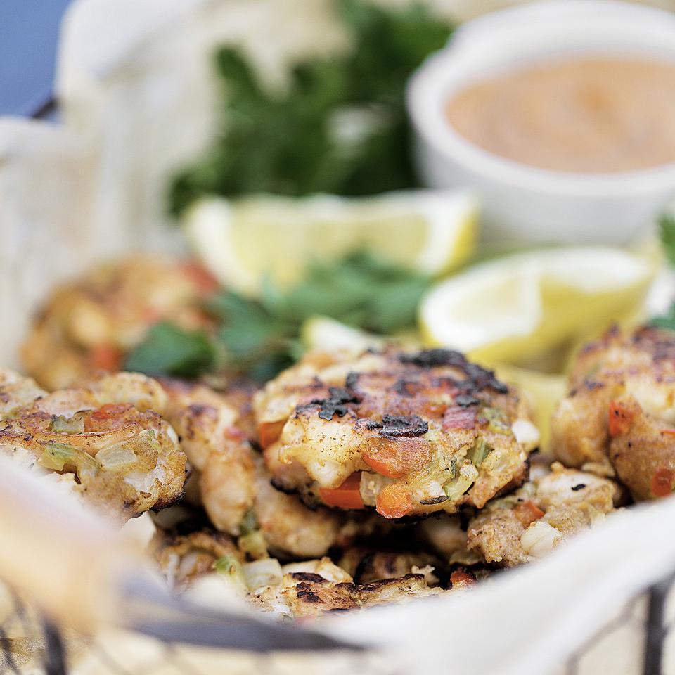 Shrimp Cakes with Spicy Cajun Mayo Carolyn Casner