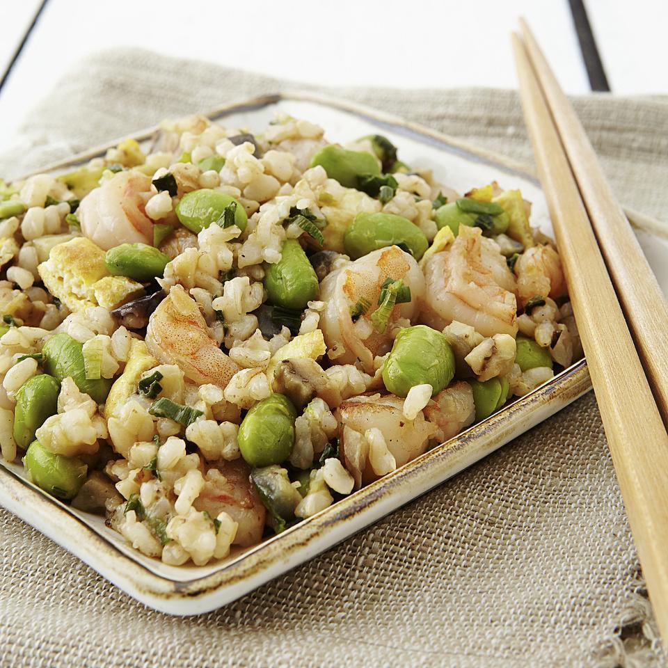 Japanese Shrimp & Eggplant Fried Rice EatingWell Test Kitchen