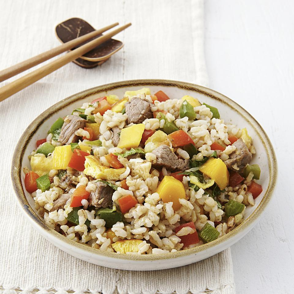 Thai Beef & Mango Fried Rice EatingWell Test Kitchen