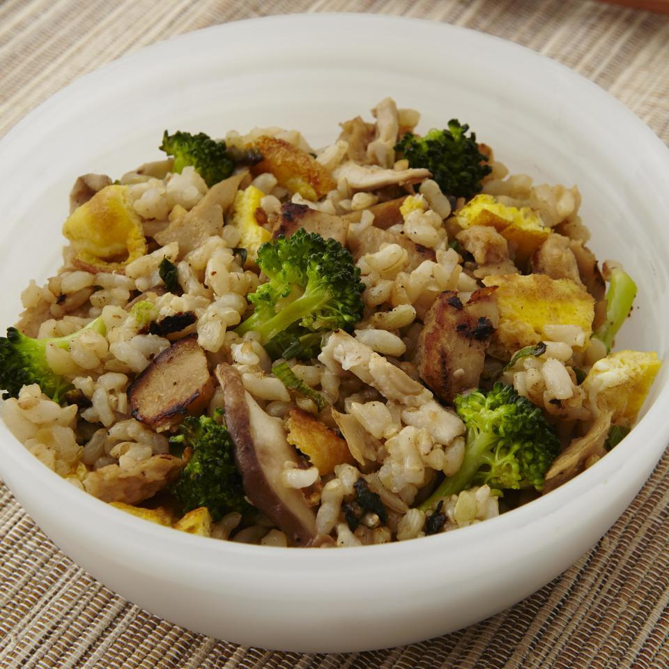 Malaysian Seitan, Broccoli & Mushroom Fried Rice EatingWell Test Kitchen