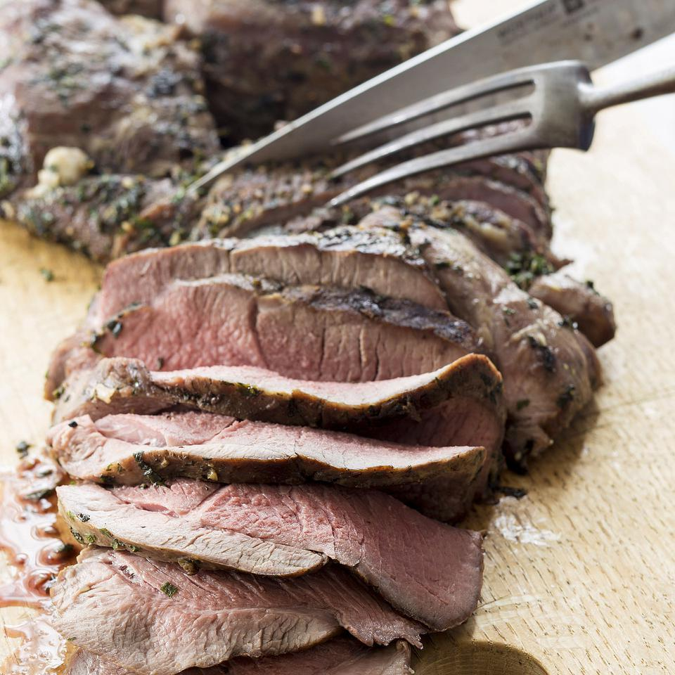 Grilled Leg of Lamb with Mint-Garlic Rub Danielle Centoni