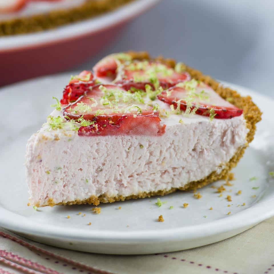 Strawberry-Lime Ice Cream Pie EatingWell Test Kitchen