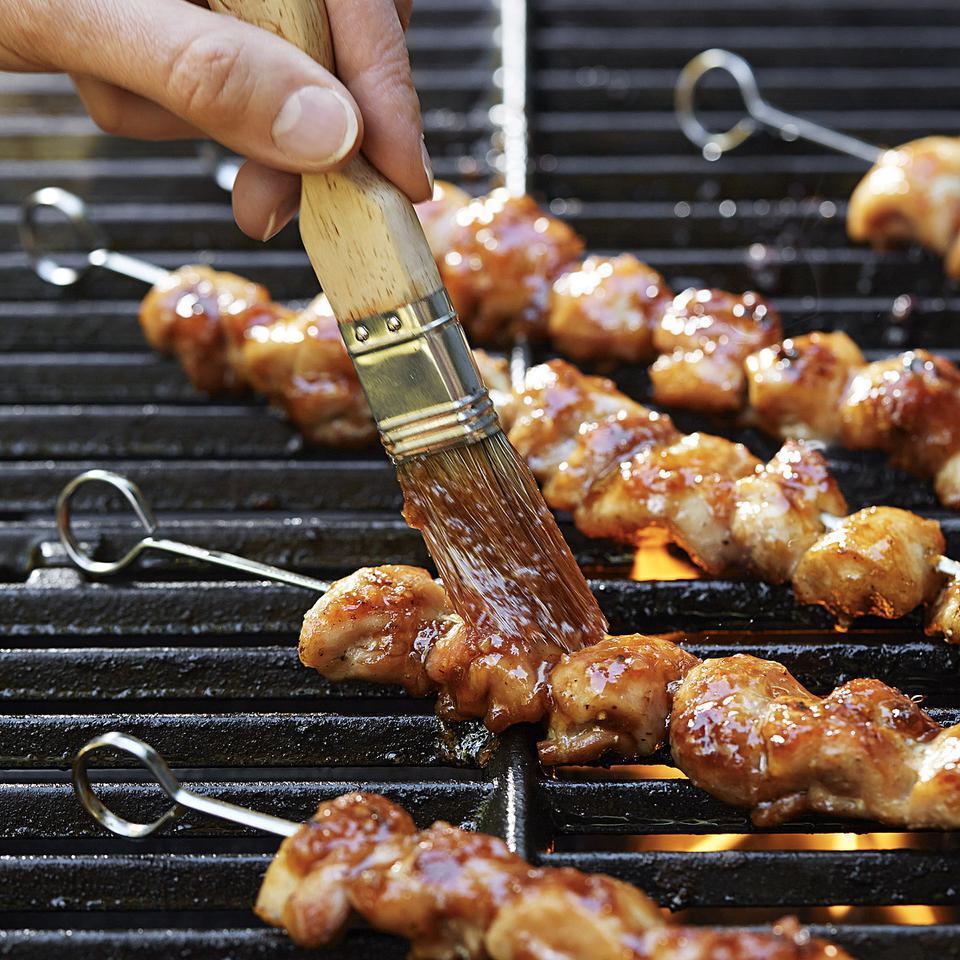 Chicken Kebabs with Thai Chile-Plum Glaze David Bonom