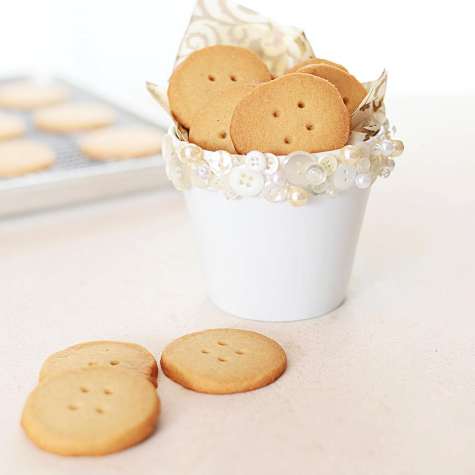 This healthy shortbread cookie recipe uses white whole-wheat flour instead of white flour. The light-colored flour is mild in flavor, adding nutrients without overpowering the classic shortbread taste. These cookies are easy to make, so they're perfect for a holiday cookie swap or afternoon tea. These cookies are also wonderful to bake with small kids because they'll love poking the buttonholes in the shortbread dough.