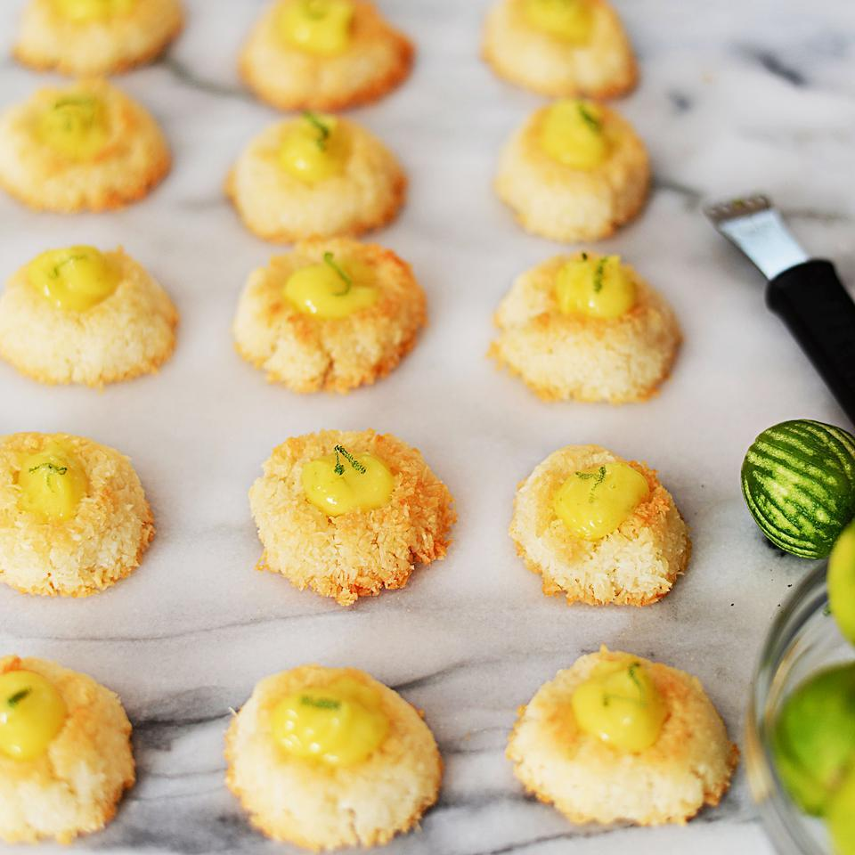 Coconut Macaroon Thumbprints with Key Lime Curd Virginia Willis