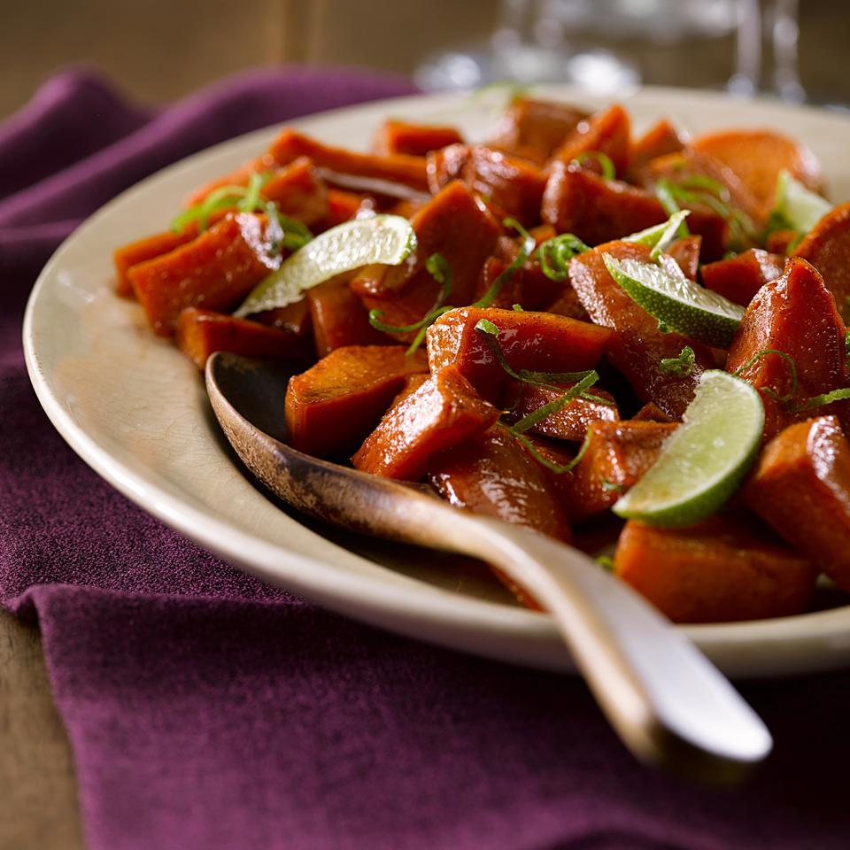 Maple-Lime Roasted Sweet Potatoes Mary Cleaver