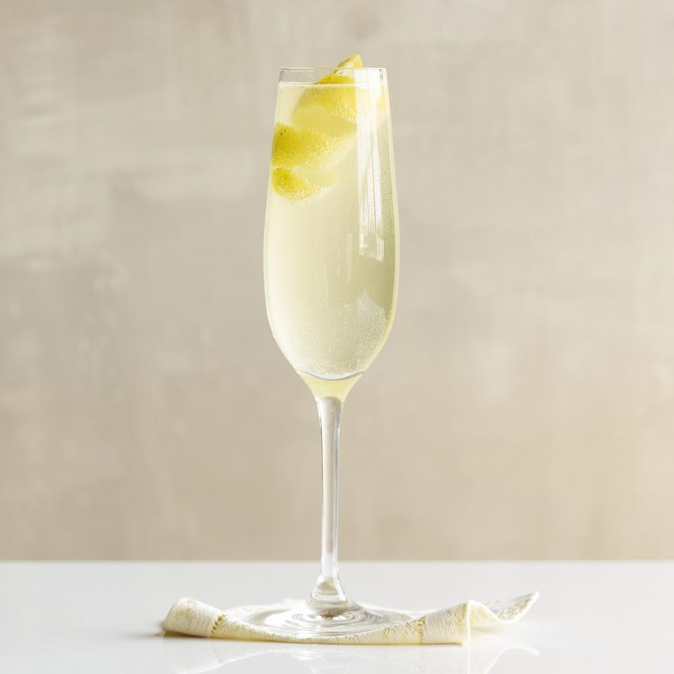 In this simple sparkling-wine cocktail, lemon juice and simple syrup make a tart-and-sweet bubbly drink.