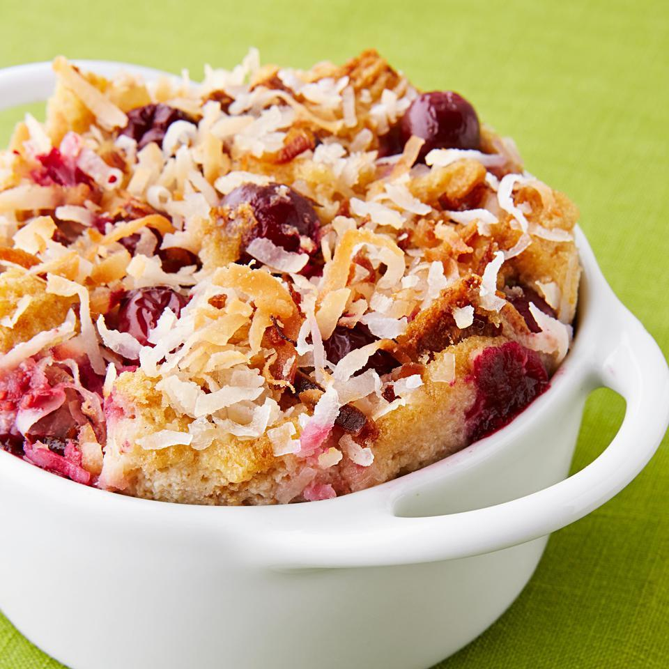 Cranberry-Coconut Bread Pudding EatingWell Test Kitchen