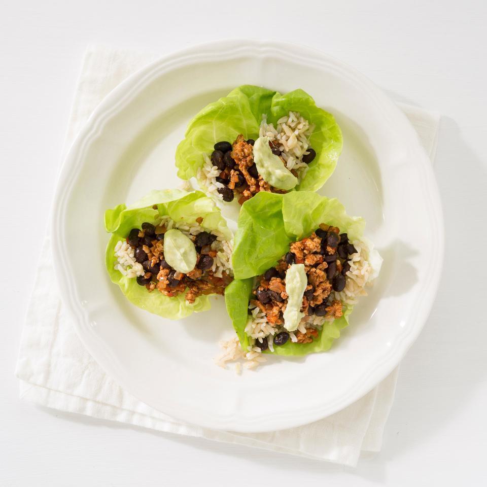 Turkey Taco Lettuce Wrap EatingWell Test Kitchen