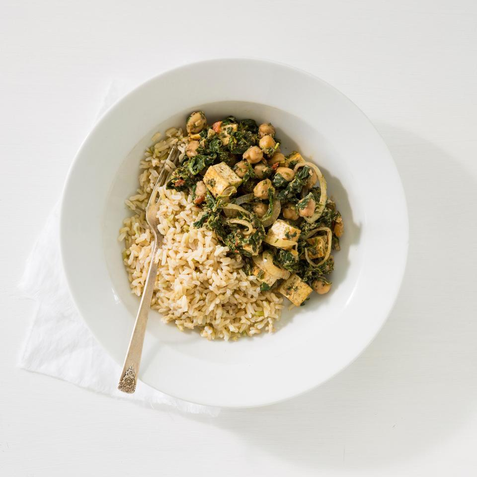 Indian Saag with Chickpeas EatingWell Test Kitchen