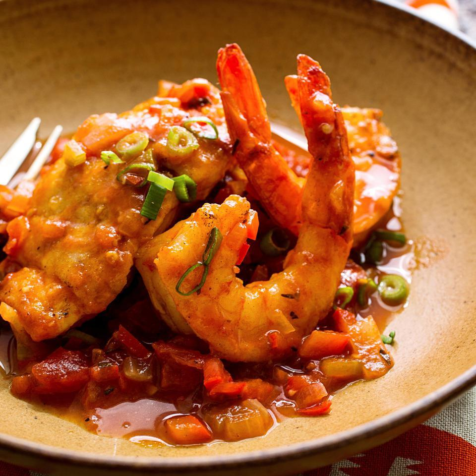Sauteed Snapper & Shrimp with Creole Sauce Kathy Gunst