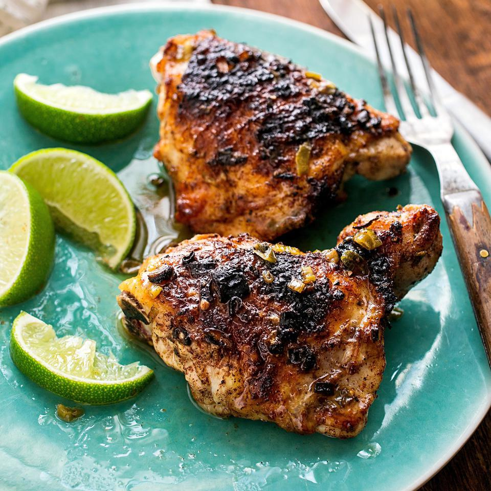 Broiled Ginger-Lime Chicken Kathy Gunst