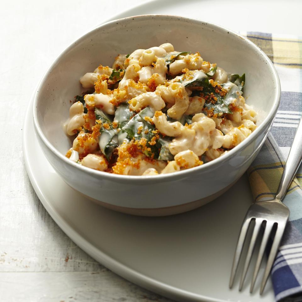 Mac & Cheese with Collards EatingWell Test Kitchen