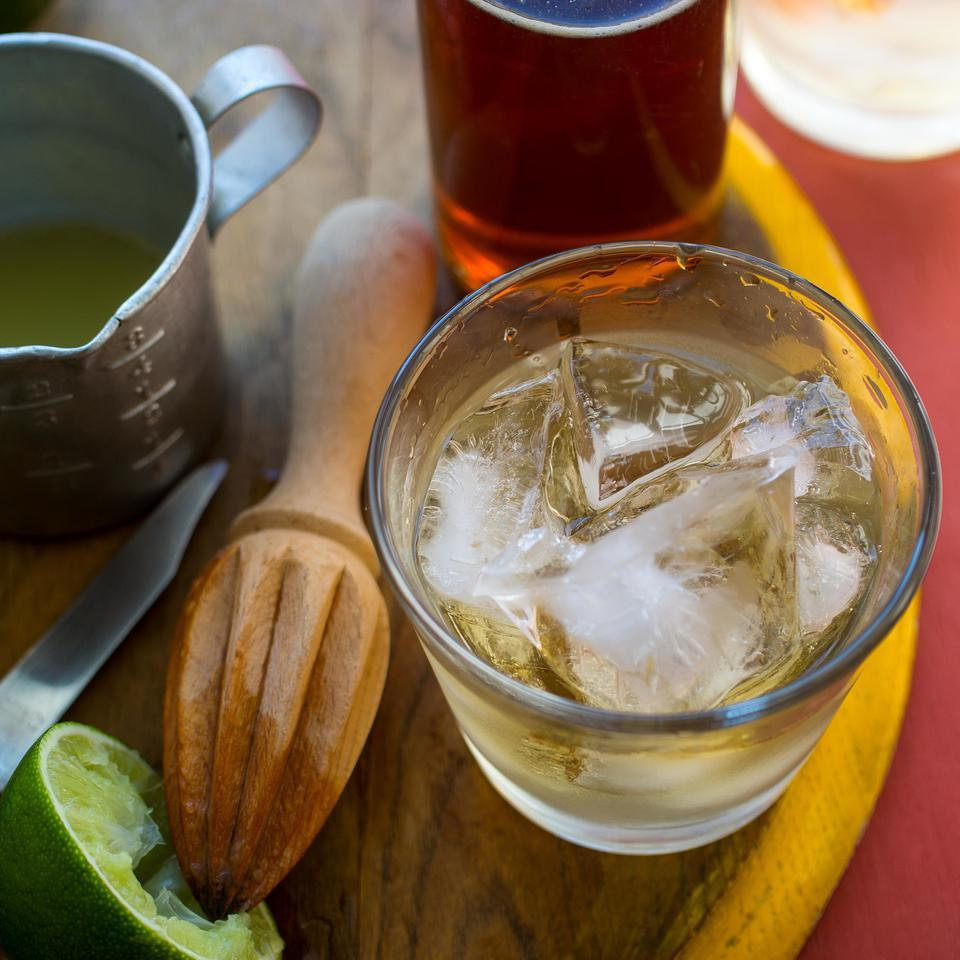 """Traditionally a 'ti punch (as in petit, pronounced """"tee"""") is served deconstructed so everyone can make their drink as they like. This easy cocktail recipe makes a not-too-strong version. Alter it as you wish.Source: EatingWell Magazine, January/February 2015"""