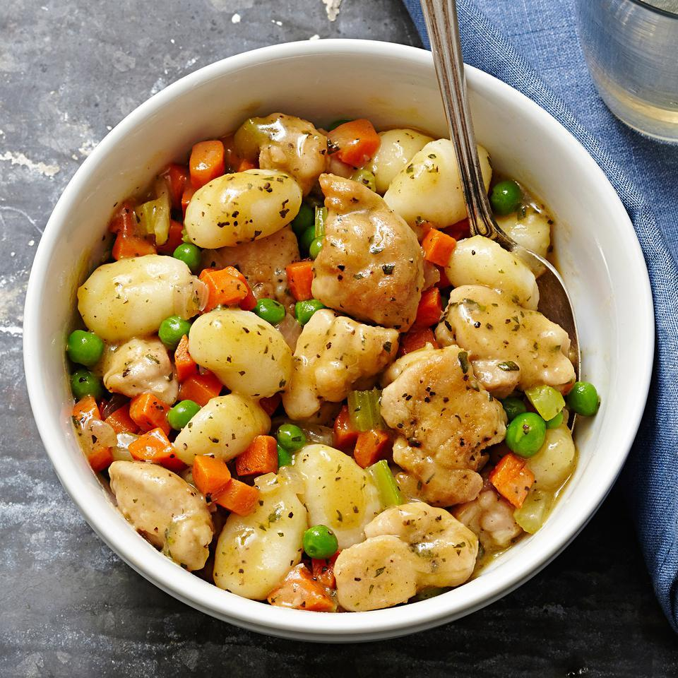 Chicken & Gnocchi Dumplings for Two EatingWell Test Kitchen
