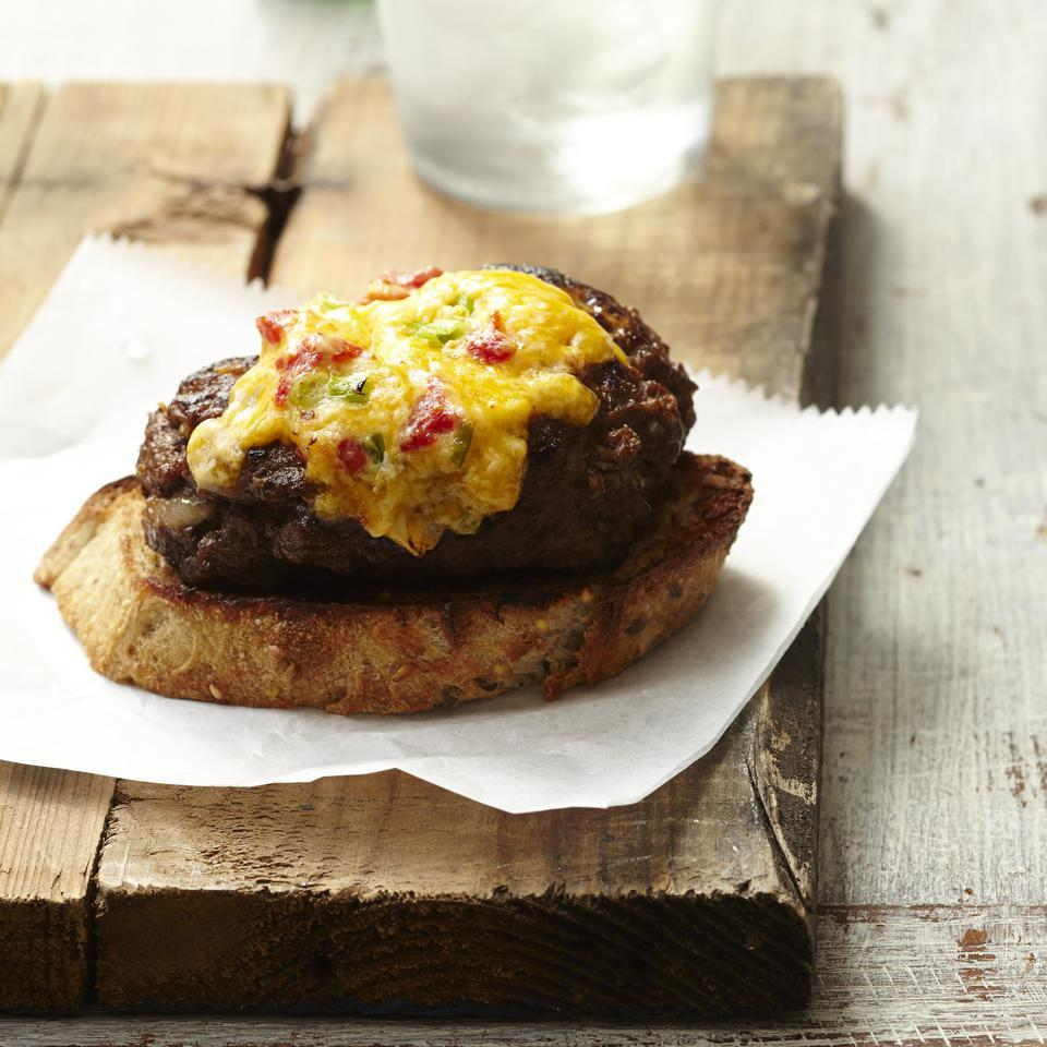 Pimiento-Cheese Patty Melt for Two EatingWell Test Kitchen