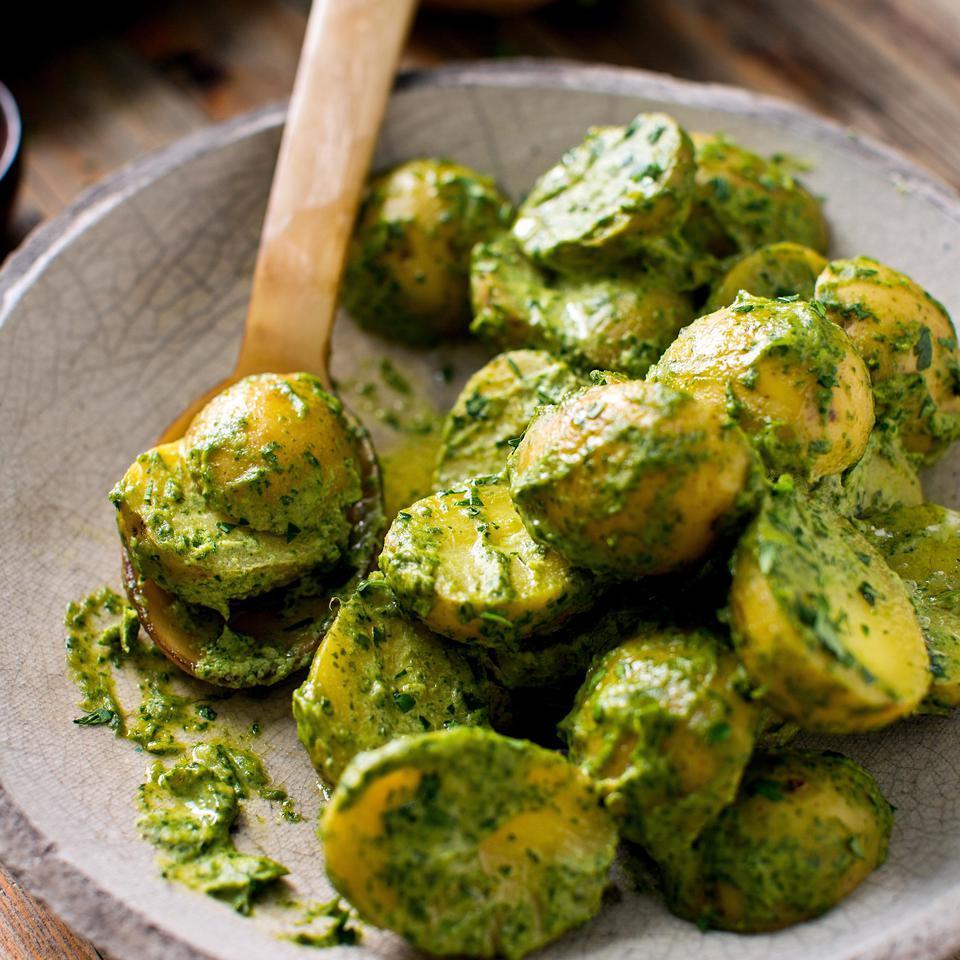 Potatoes with Green Tahini Sauce Michael Solomonov