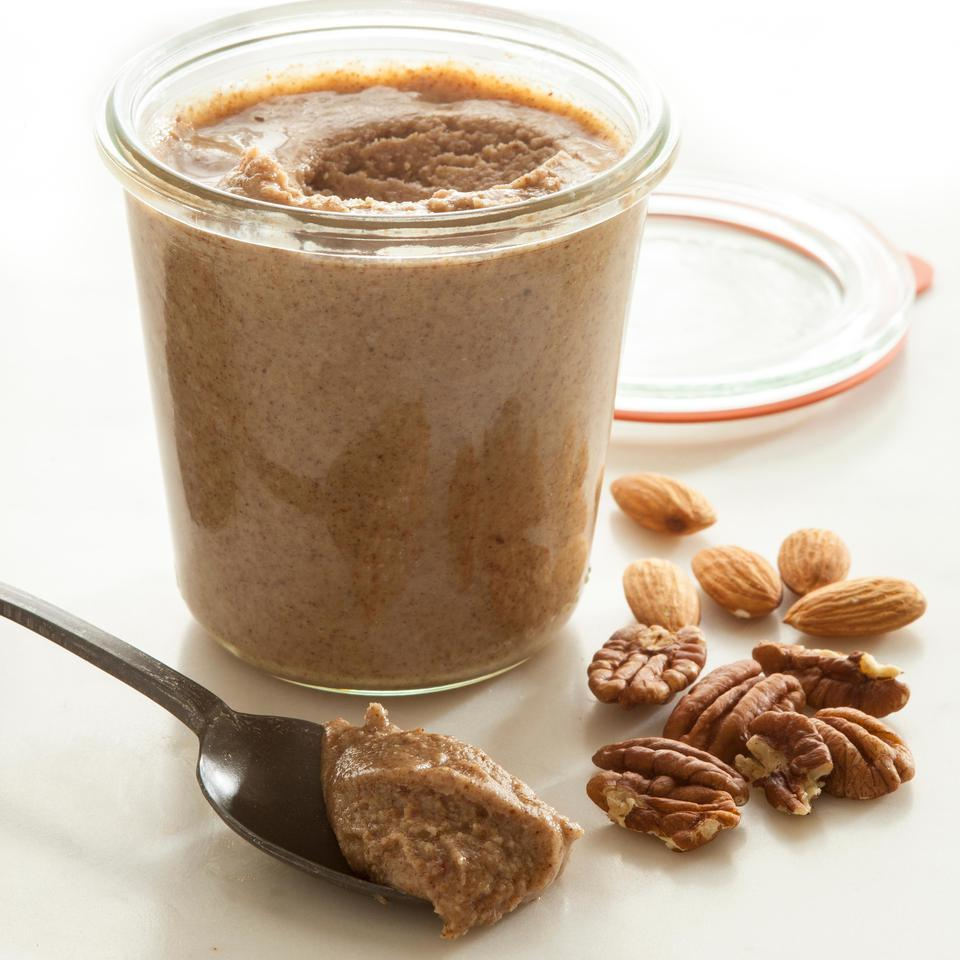 Turn your food processor into a nut-butter-making machine with this easy recipe for homemade pecan-almond butter. Try it spread on apple slices or in place of cream cheese on your favorite bagel.
